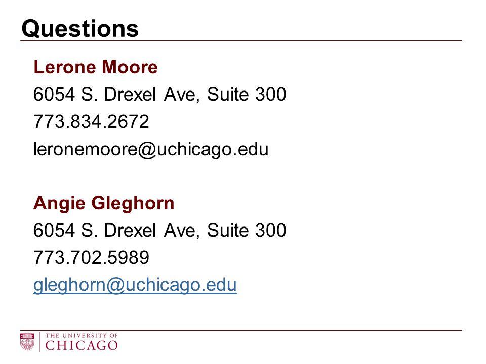 Lerone Moore 6054 S.