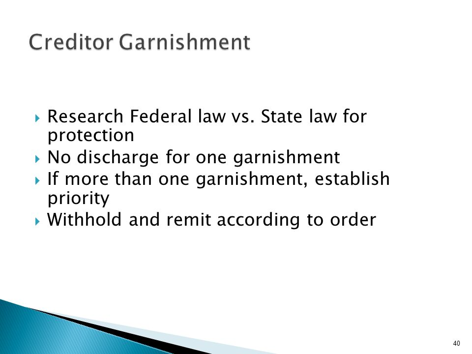 Research Federal law vs.