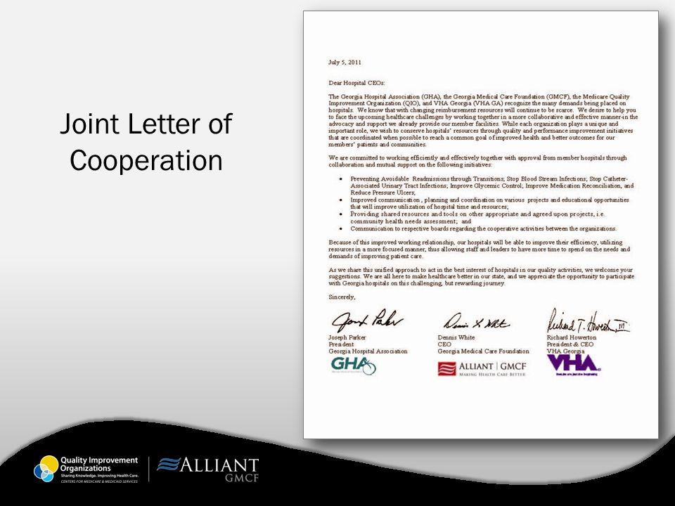 Joint Letter of Cooperation