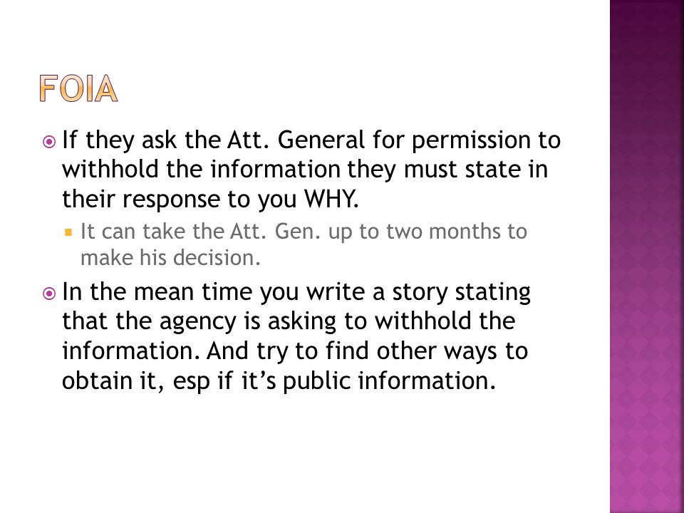  If they ask the Att.