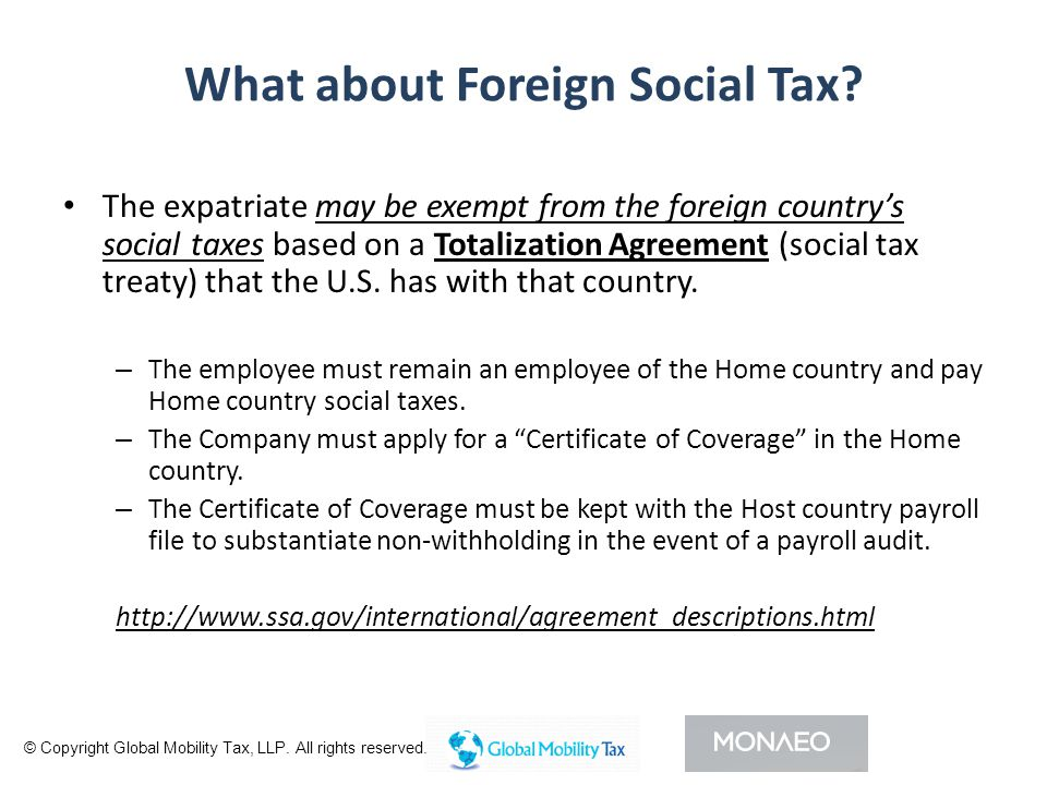 What about Foreign Social Tax.