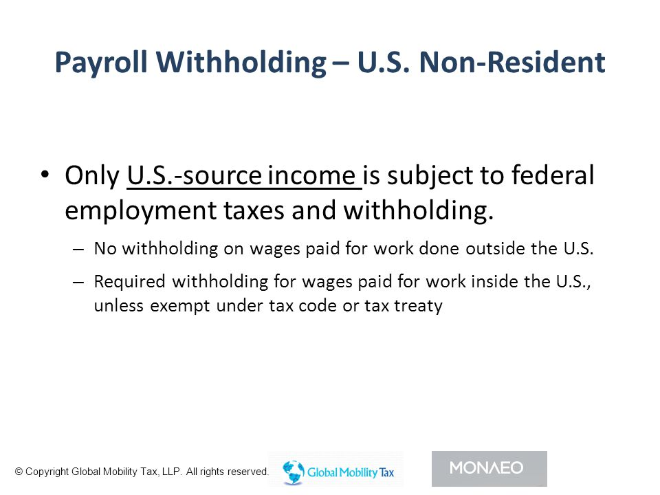 Payroll Withholding – U.S.