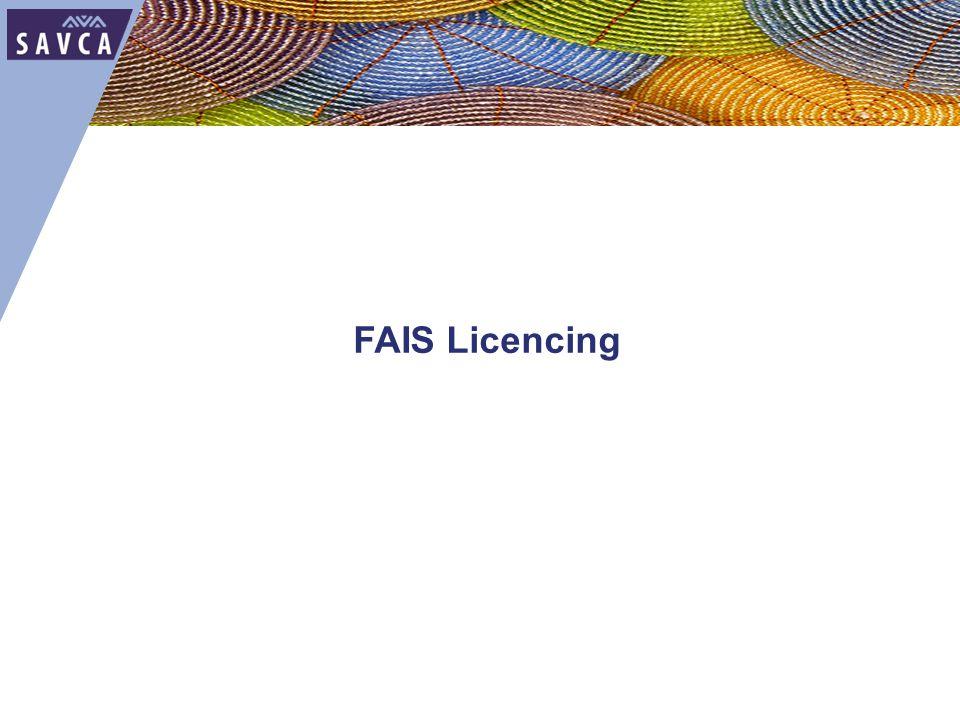 FAIS Licencing