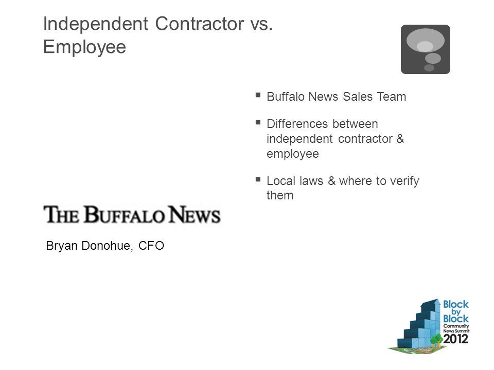 Independent Contractor vs.