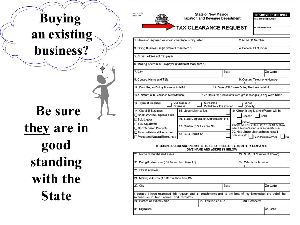 Buying an existing business? Be sure they are in good standing with the State
