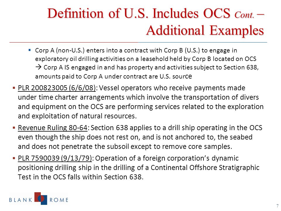 Divergence in Treatment of OCS (B-1) Crew Members by USCIS, SSA and IRS USCIS  Issuance of visa for primary purpose  Employment (H-1B, L-1, TN, etc.) vs.