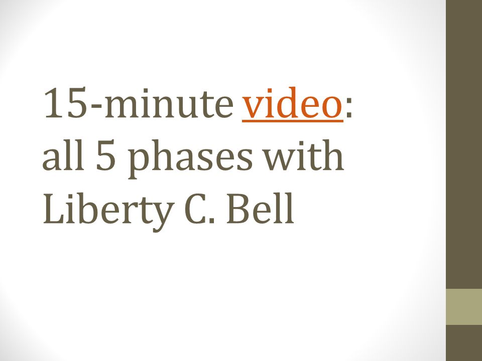 15-minute video: all 5 phases with Liberty C. Bellvideo