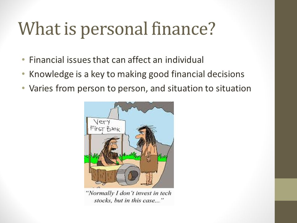 What is a financial issue?