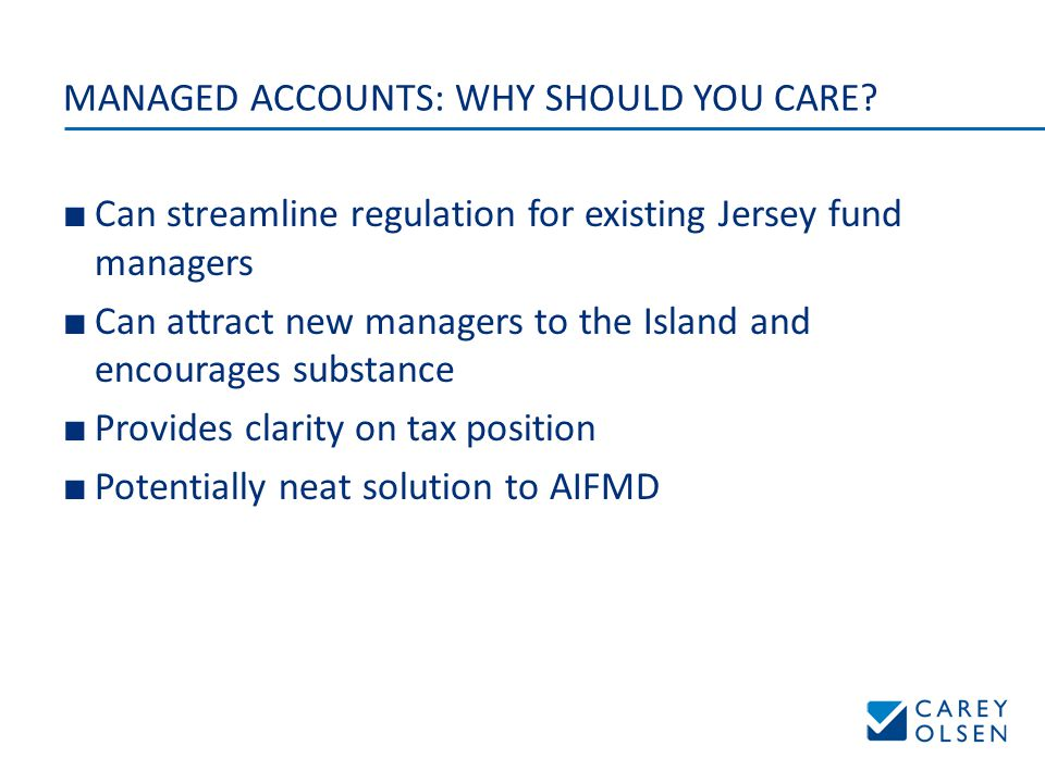 MANAGED ACCOUNTS: WHY SHOULD YOU CARE.