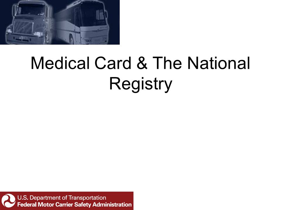 Medical Card & The National Registry
