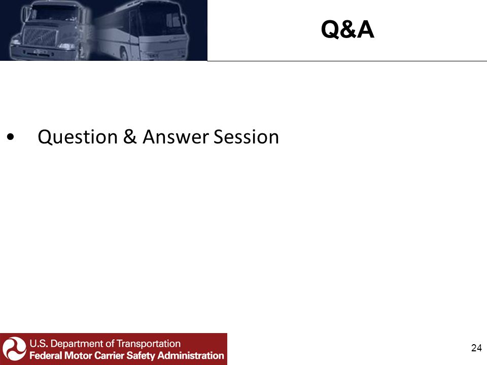 Q&A Question & Answer Session 24