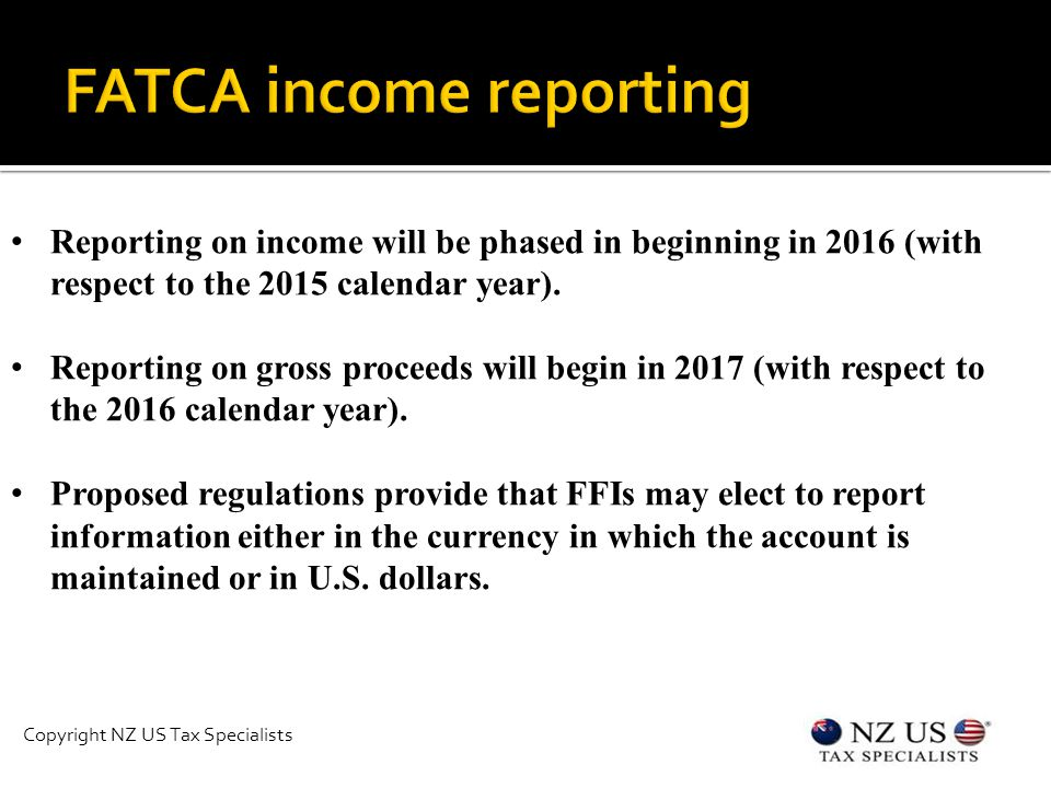 Reporting on income will be phased in beginning in 2016 (with respect to the 2015 calendar year).