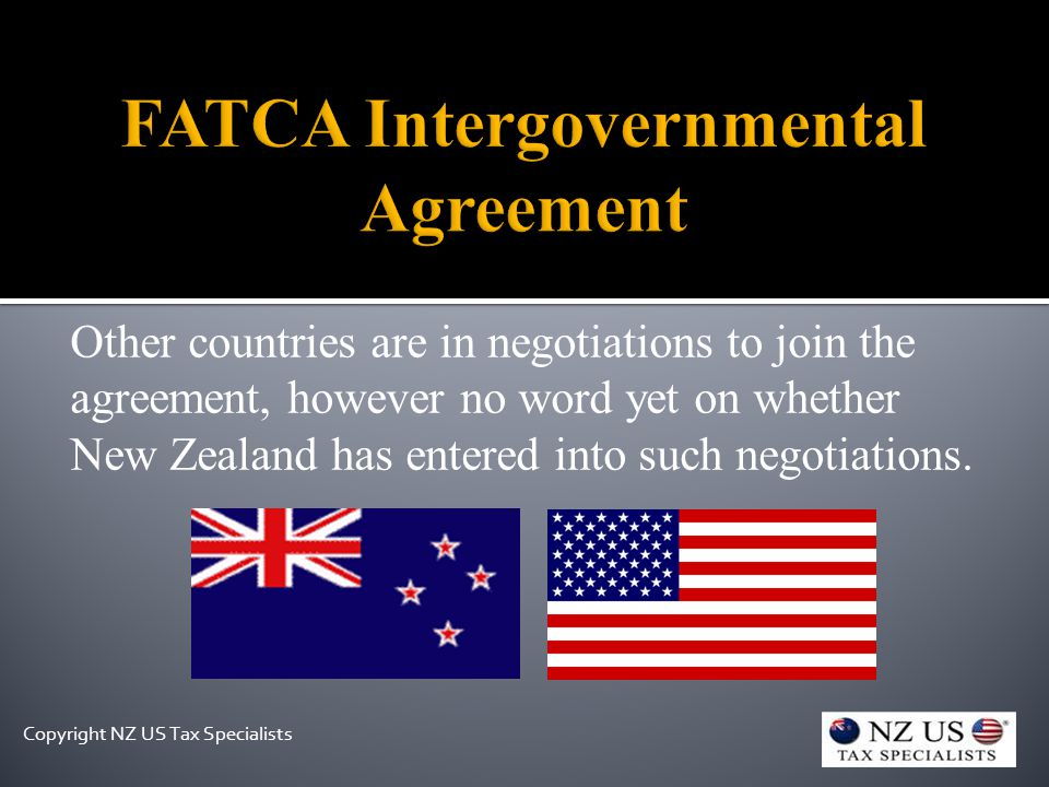 Other countries are in negotiations to join the agreement, however no word yet on whether New Zealand has entered into such negotiations.