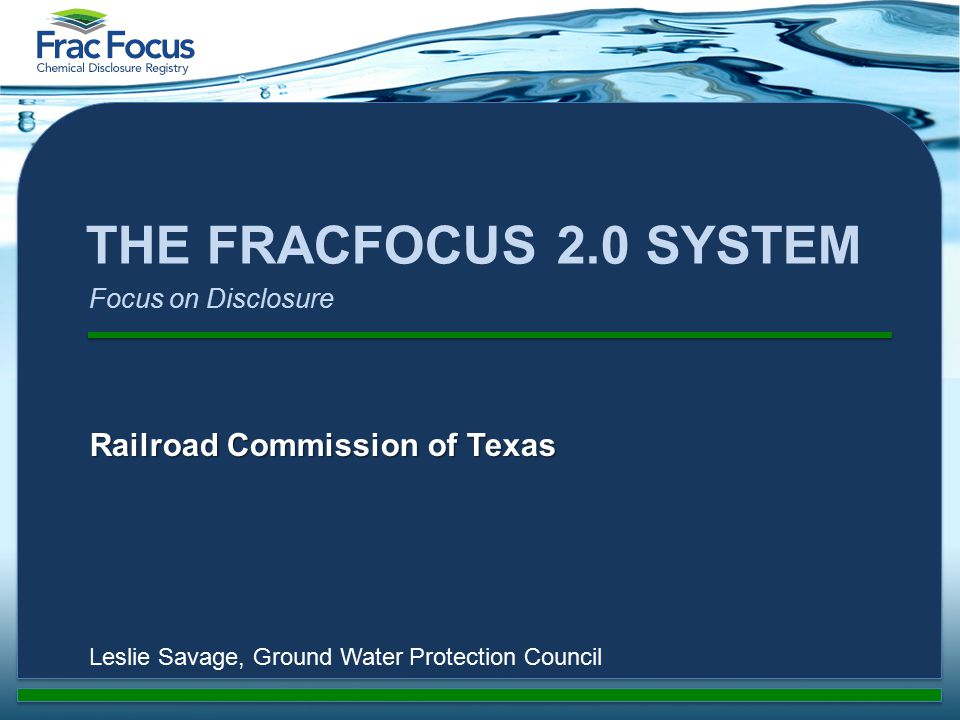 What is the Ground Water Protection Council.
