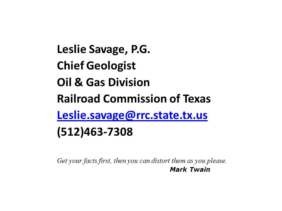 Leslie Savage, P.G.
