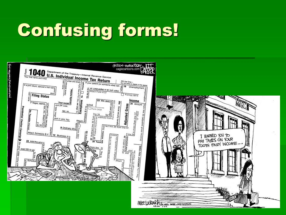 Confusing forms!