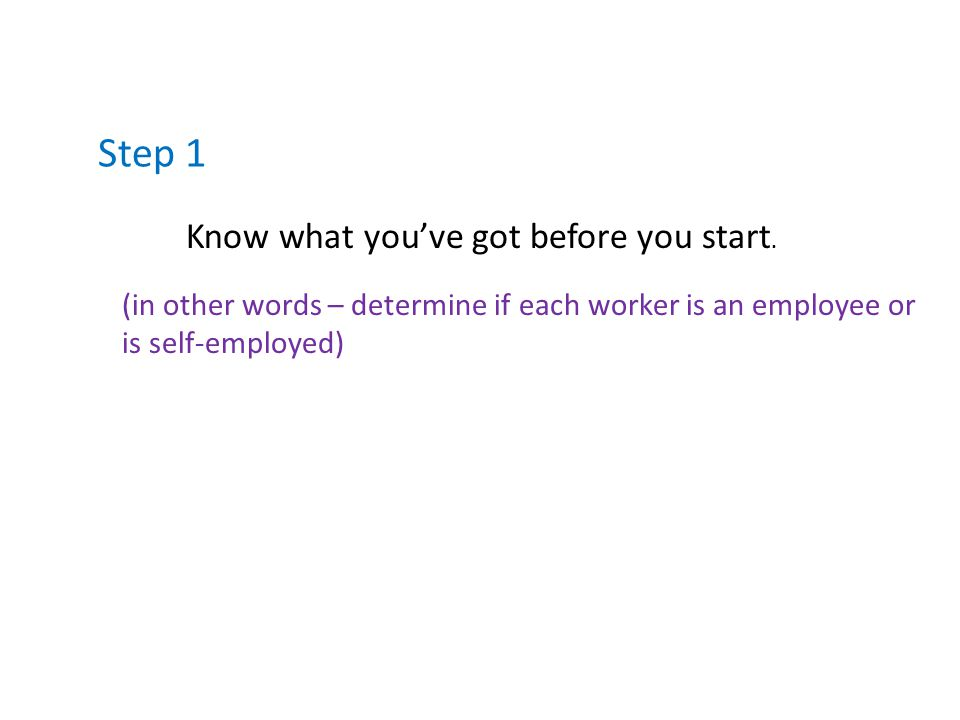 Step 1 Know what you've got before you start.