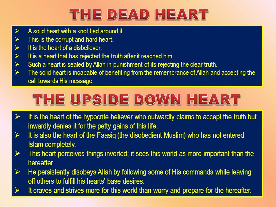  It is the heart of the hypocrite believer who outwardly claims to accept the truth but inwardly denies it for the petty gains of this life.  It is