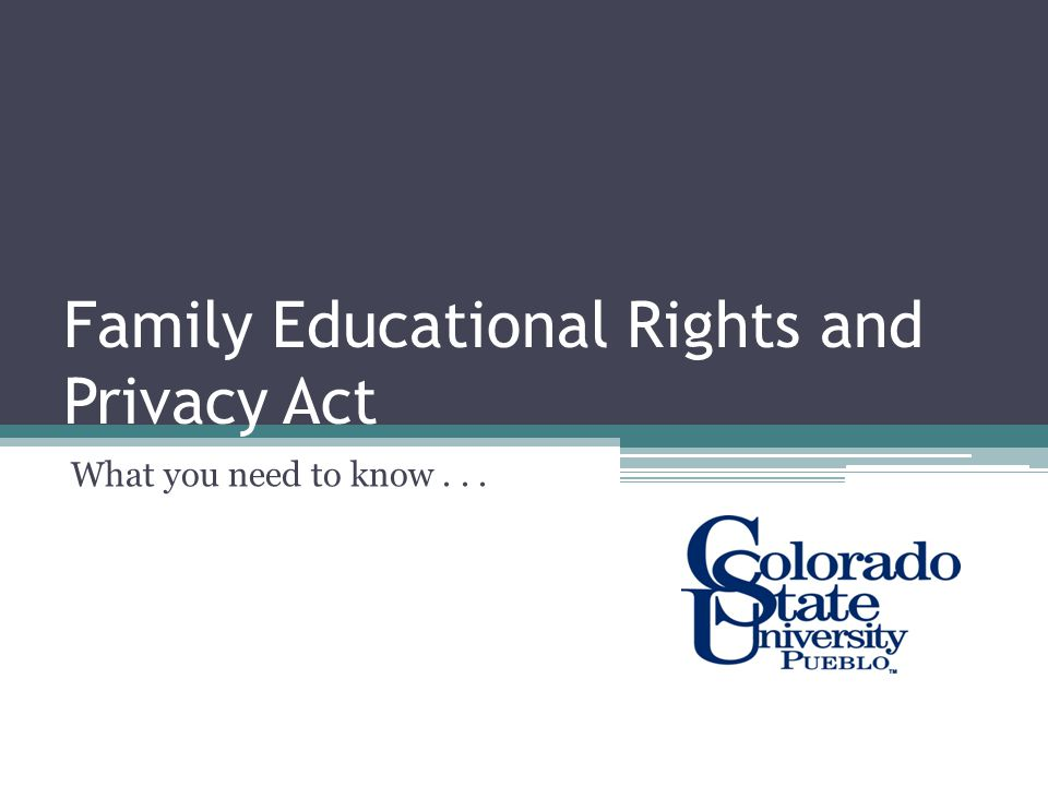 What is FERPA.The Family Educational Rights and Privacy Act (FERPA) (20 U.S.C.