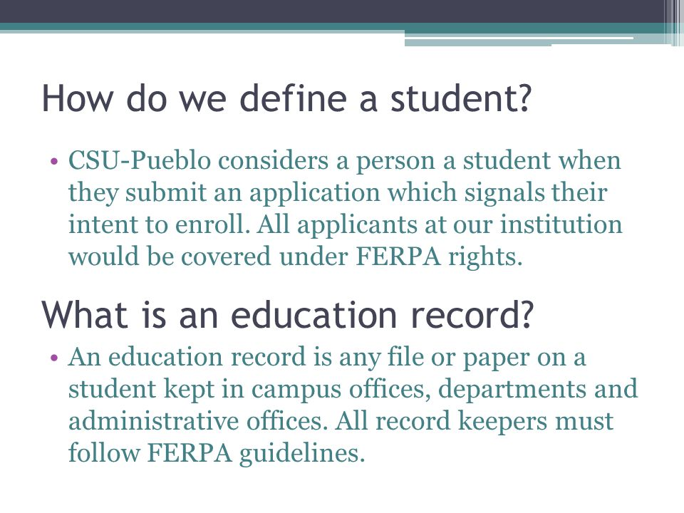 What basic rights are given under FERPA?