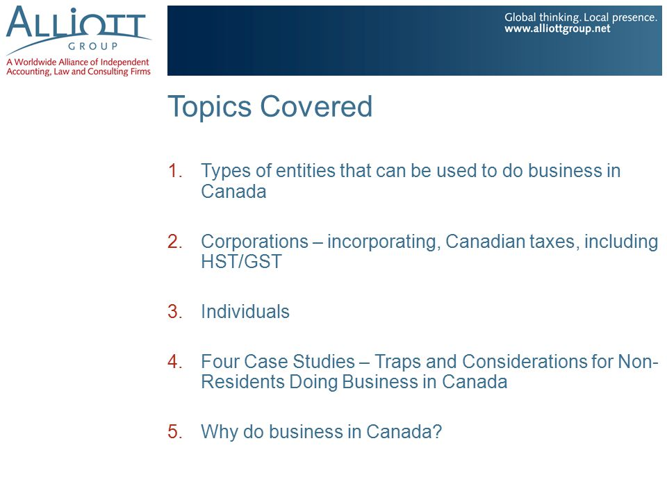Tax Considerations and Traps for Non-residents Real Estate US individual (or corporation, or LLC – it doesn't matter) owns a rental building in Canada.