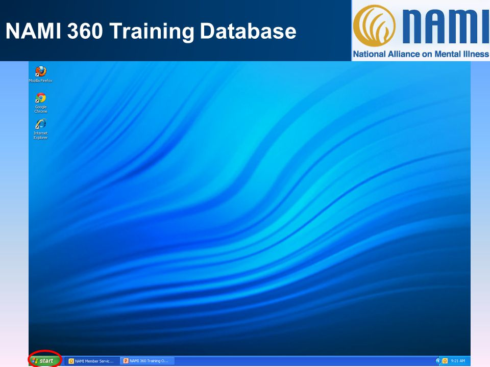 NAMI 360 Training Database