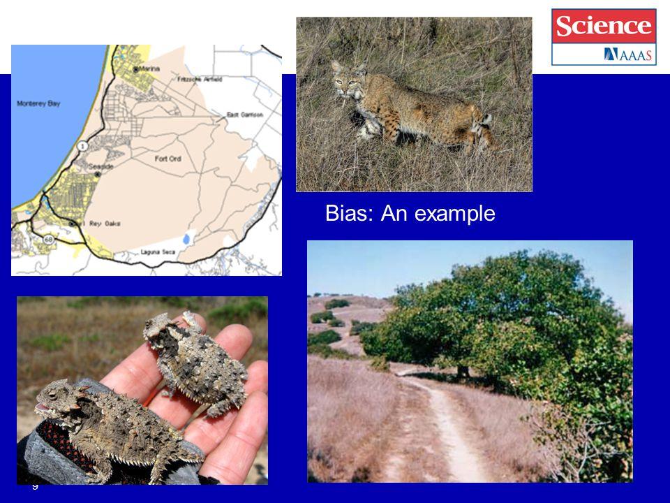 Bias: An example 9