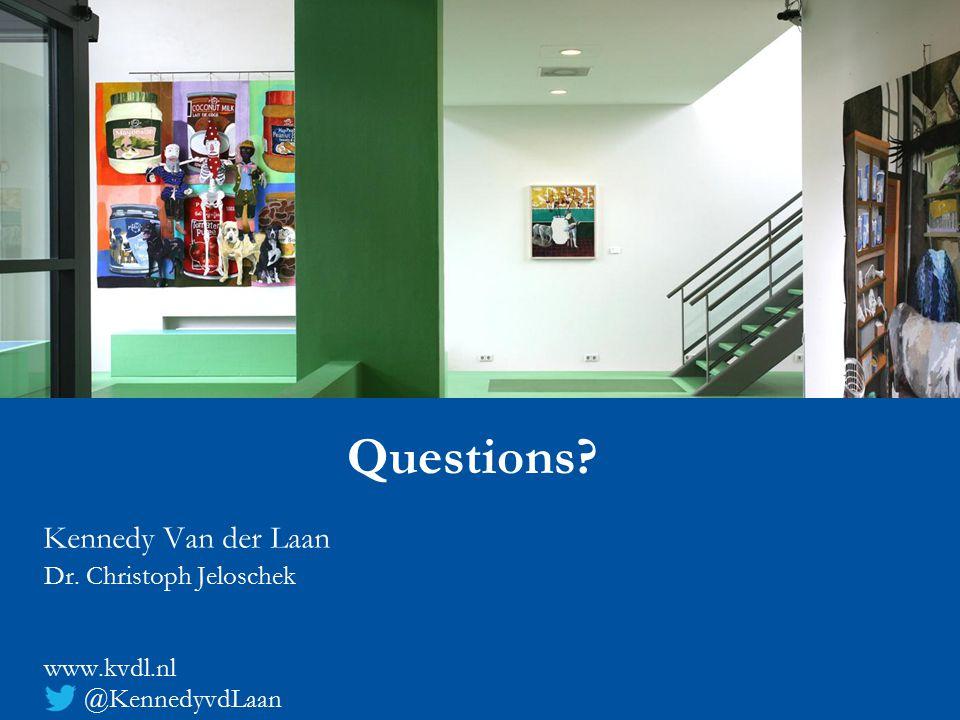 Kennedy Van der Laan Dr. Christoph Jeloschek www.kvdl.nl @KennedyvdLaan Questions