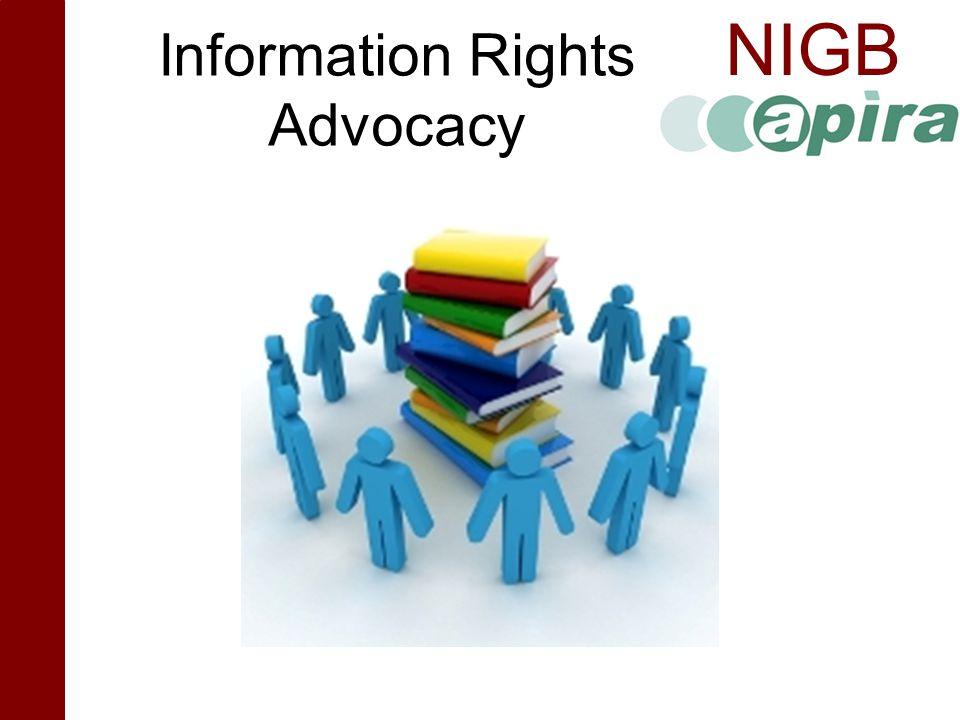 NIGB Information Rights Advocacy