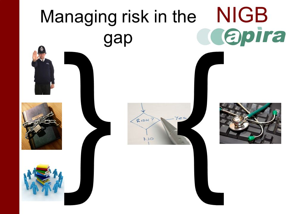 NIGB Managing risk in the gap } {