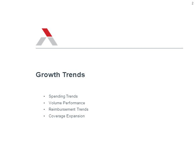 Spending Trends Volume Performance Reimbursement Trends Coverage Expansion Growth Trends 2