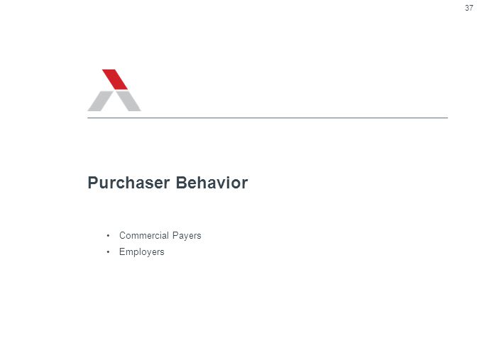 Commercial Payers Employers Purchaser Behavior 37