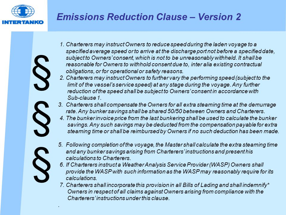Conclusion 1.1. Shipping see the need to reduce GHG emission and is actively working to do so 2.