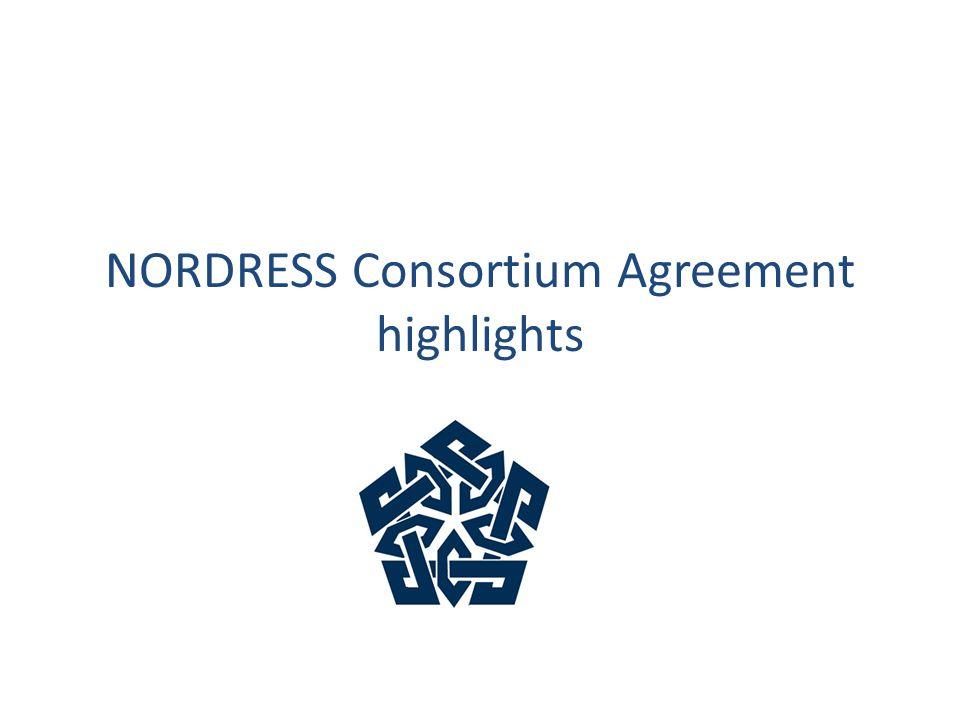 NORDRESS Consortium Agreement highlights