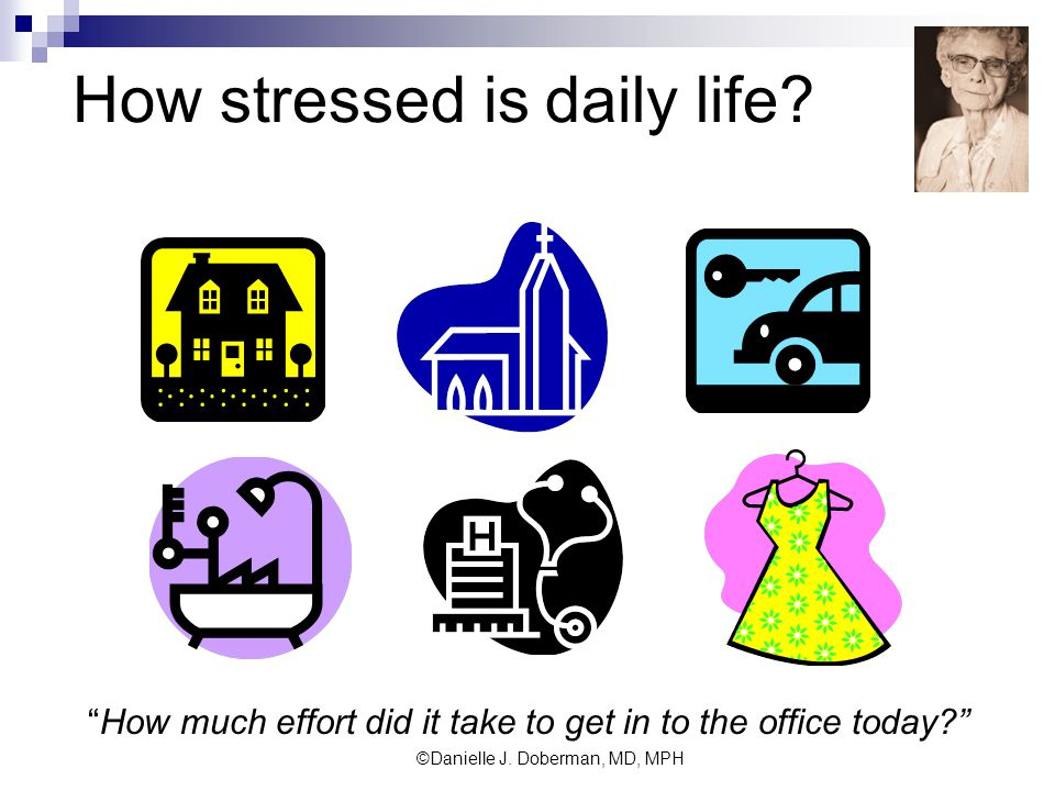 How stressed is daily life.