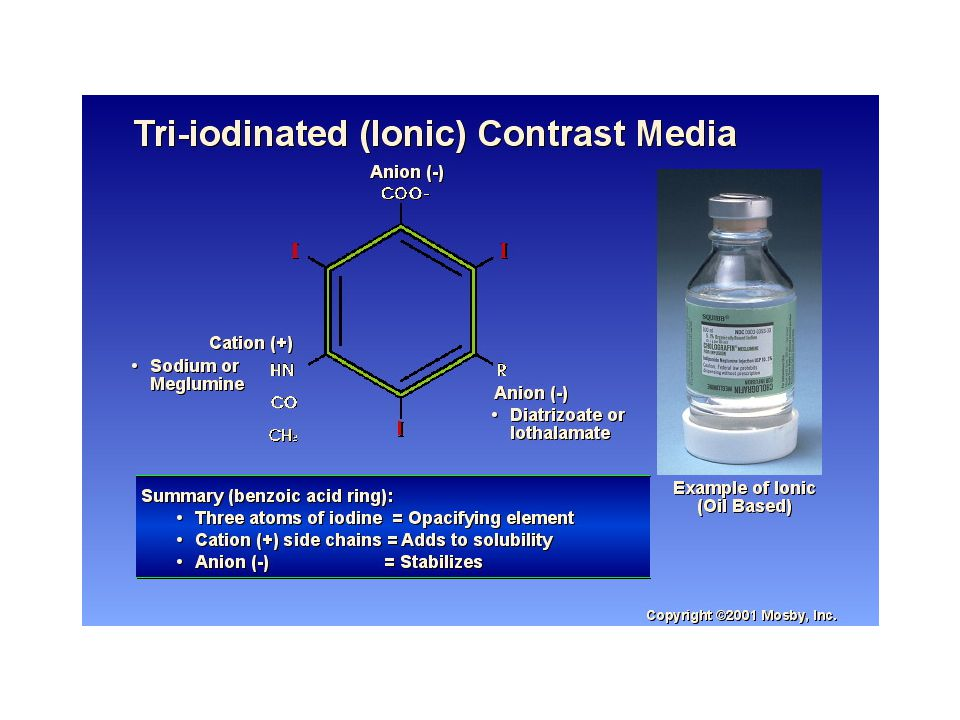 CONTRAST REACTIONS General > 10 million diagnostic procedures per year Conventional ionic contrast reactions - 10% 1 in 1000 severe