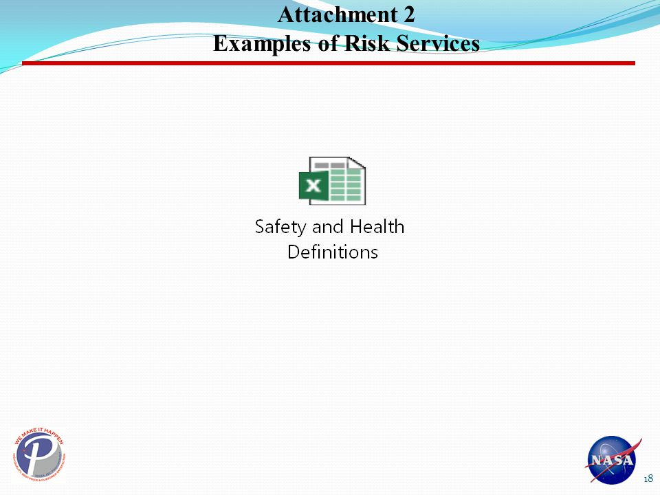 Attachment 2 Examples of Risk Services 18