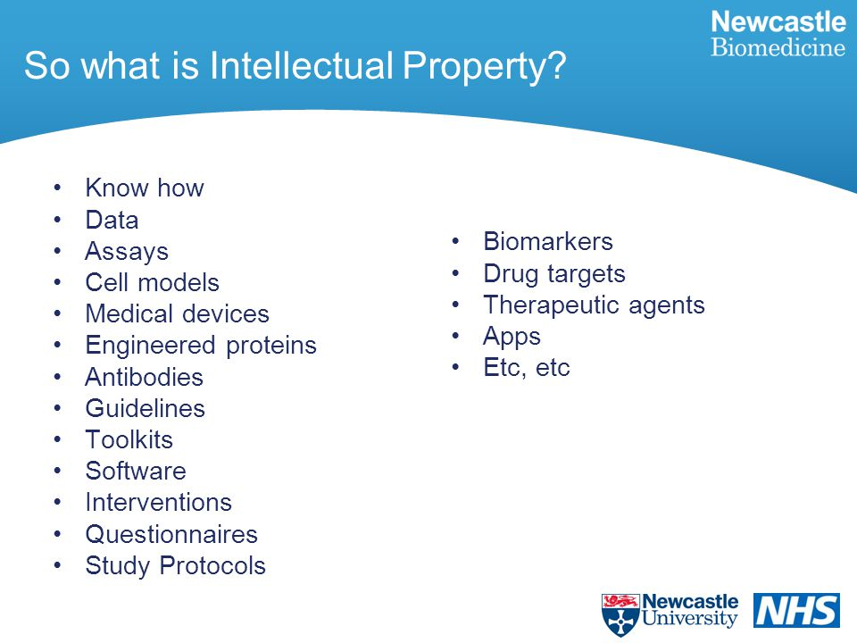 So what is Intellectual Property.