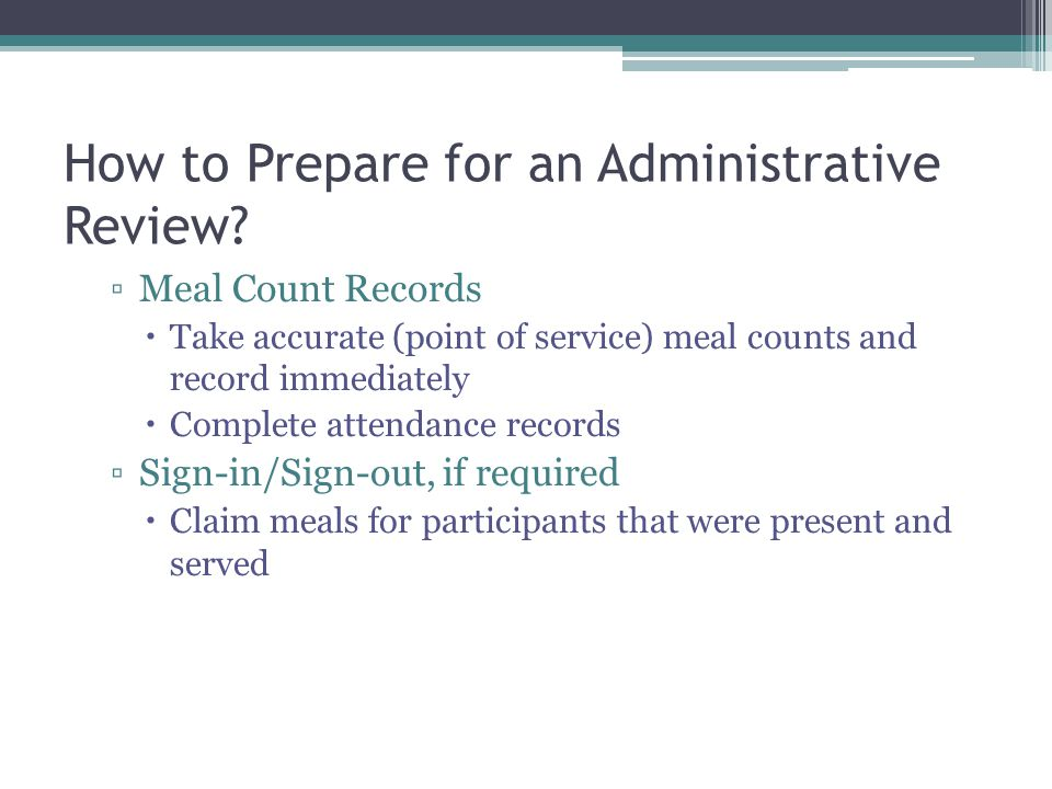 How to Prepare for an Administrative Review.