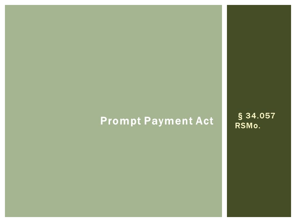 § 34.057 RSMo. Prompt Payment Act