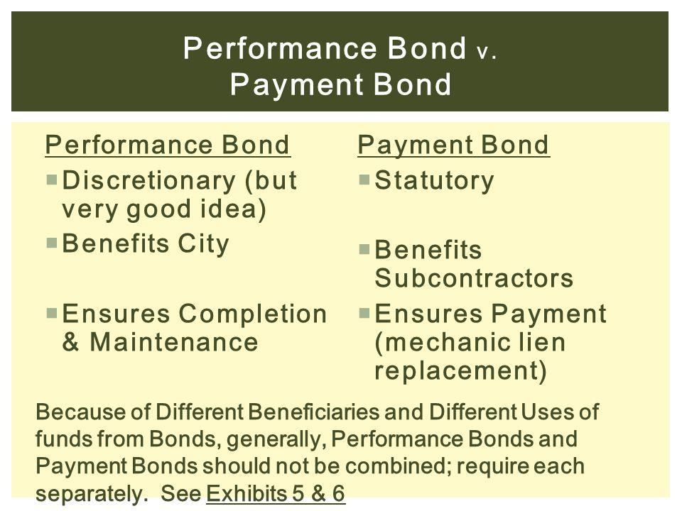 Performance Bond v.