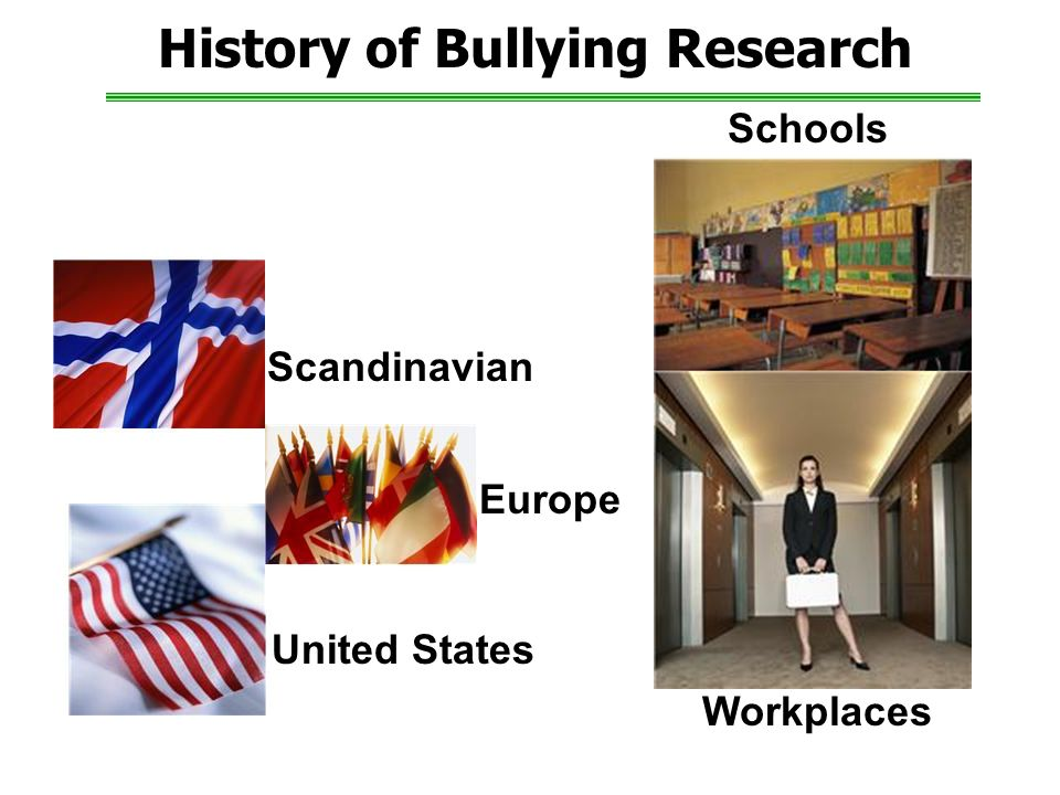 History of Bullying Research United States Schools Workplaces Europe Scandinavian