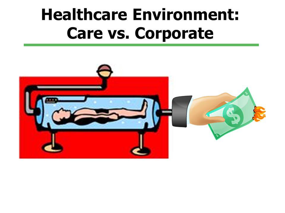 Healthcare Environment: Care vs. Corporate