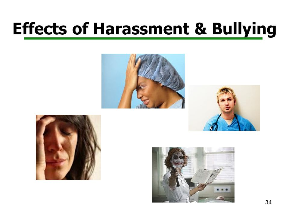 34 Effects of Harassment & Bullying