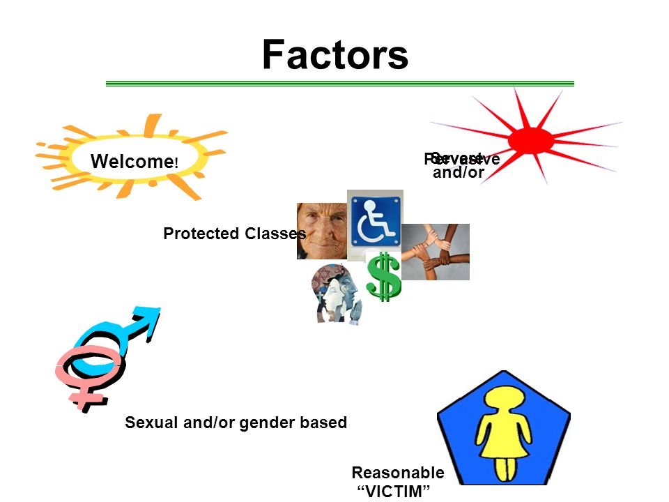 Factors Sexual and/or gender based Welcome .