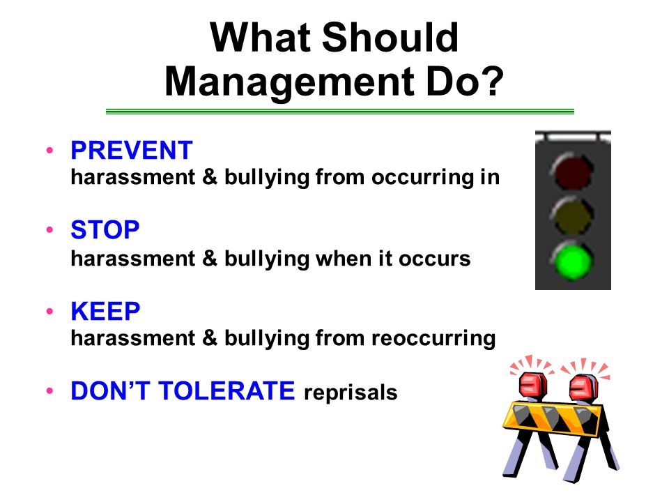 What Should Management Do.