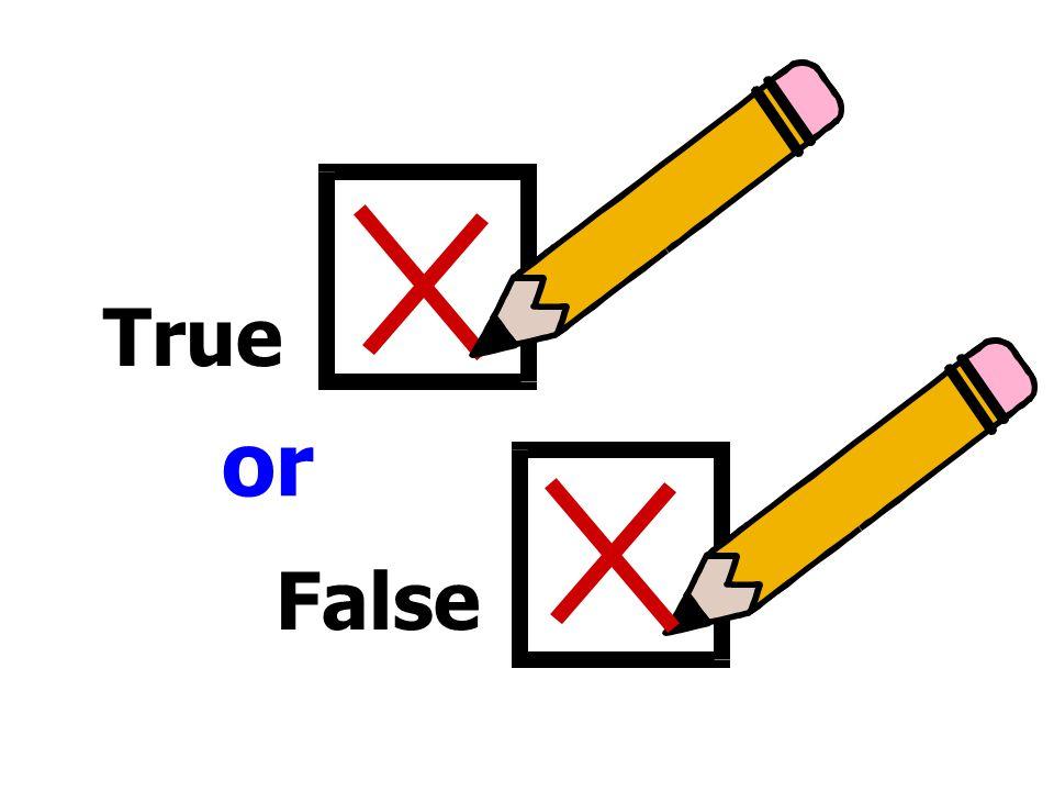 False True or