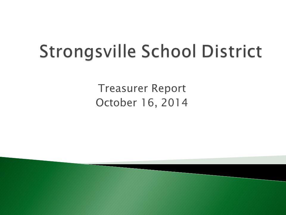 Treasurer Report October 16, 2014