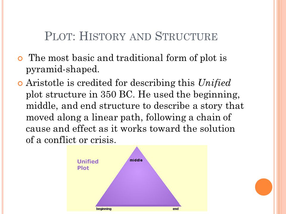 P LOT : H ISTORY AND S TRUCTURE The most basic and traditional form of plot is pyramid-shaped.