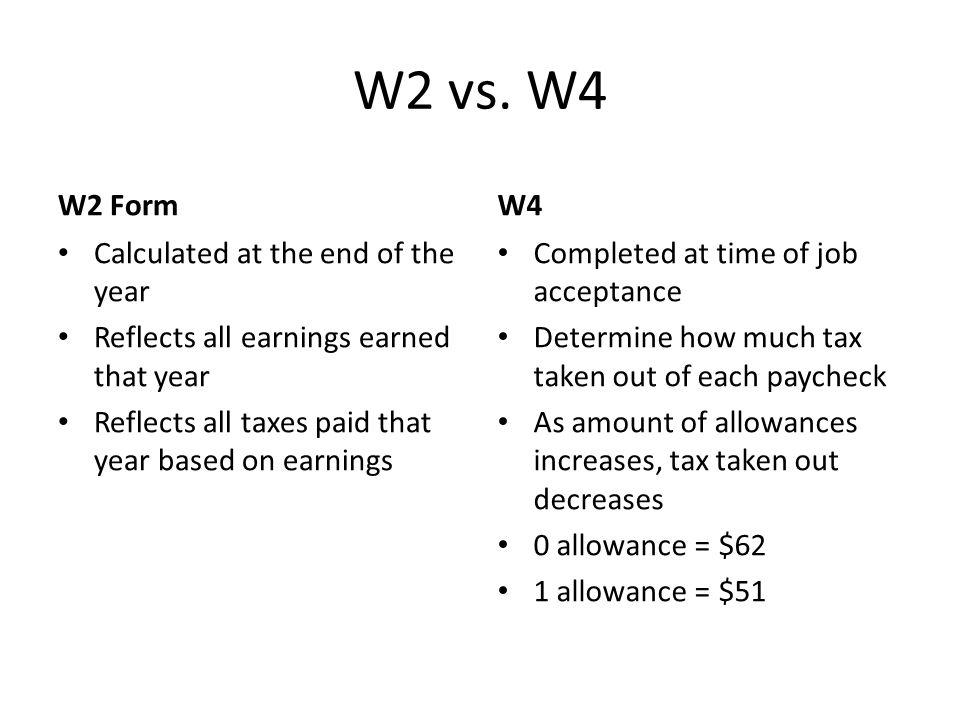W2 vs.